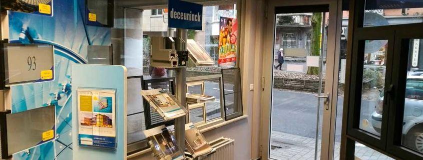 Showroom Etterbeek vue de l'intérieur