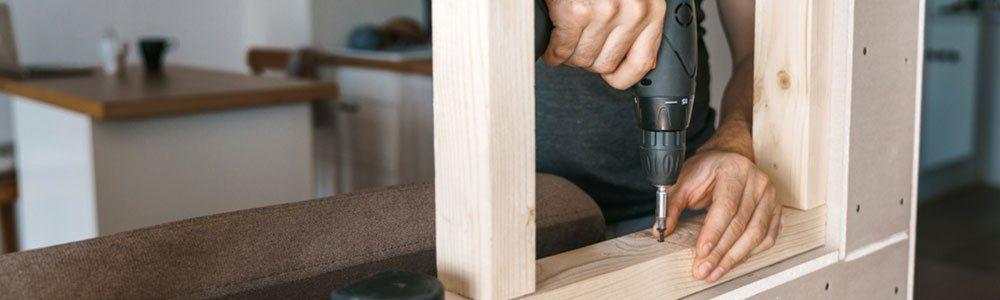 installation châssis en bois